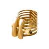 Abrazadera Rovner Platinum Gold Plated para clarinete y saxofón